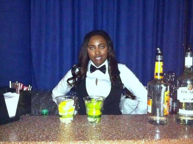 Chandra as a holiday bartender