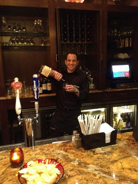 Robert bartending at the Hampton Inn