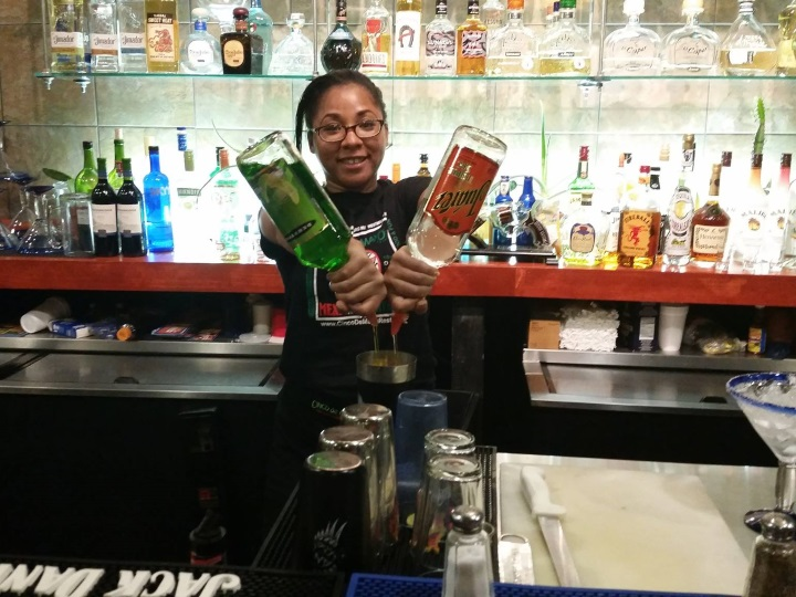 MD bartending grad Brittany